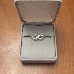 STERLING SILVER AND CZ INFINITY BAND